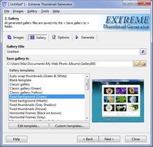 Extreme Thumbnail Generator - web photo album maker, html photo gallery software